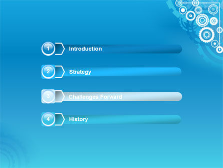 Pinion Blue Theme PowerPoint Template Slide 3