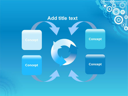 Pinion Blue Theme PowerPoint Template Slide 6