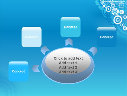 Pinion Blue Theme PowerPoint Template Slide 7