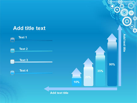 Pinion Blue Theme PowerPoint Template Slide 8