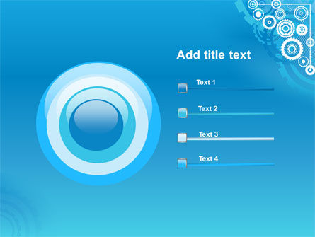 Pinion Blue Theme PowerPoint Template Slide 9