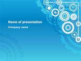 Business: Pinion Blue Theme PowerPoint Template #07847