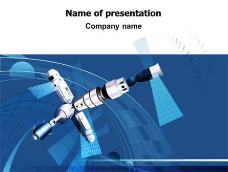 Satellite Free PowerPoint Template, 07849, Technology and Science — PoweredTemplate.com
