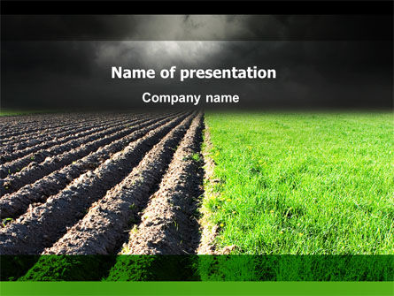 Agriculture: Plough Land PowerPoint Template #07850