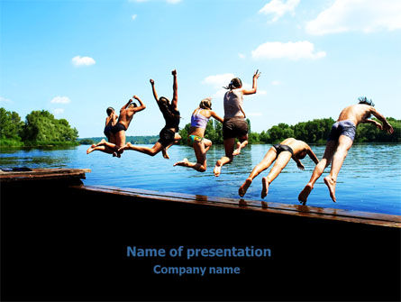 People: Swimming Party PowerPoint Template #07851