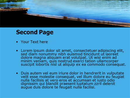 Swimming Party PowerPoint Template, Slide 2, 07851, People — PoweredTemplate.com