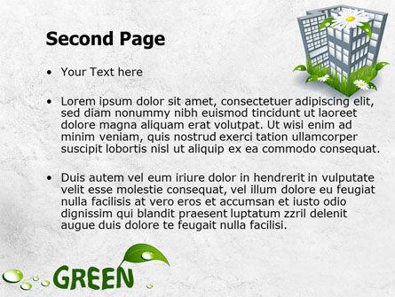Green Building PowerPoint Template, Slide 2, 07853, Nature & Environment — PoweredTemplate.com