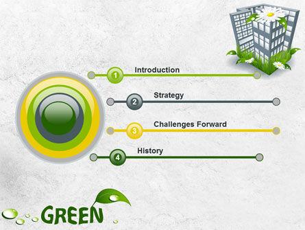 Green Building PowerPoint Template, Slide 3, 07853, Nature & Environment — PoweredTemplate.com