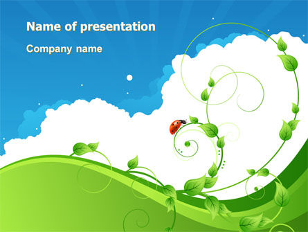 Curly Sprout PowerPoint Template, 07854, Nature & Environment — PoweredTemplate.com
