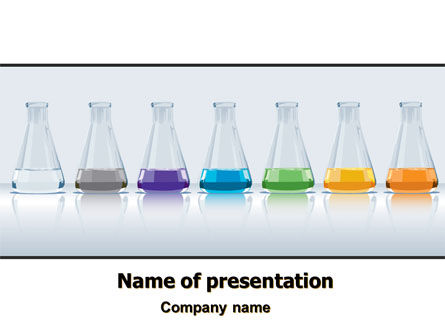 Color Portions PowerPoint Template, 07857, Technology and Science — PoweredTemplate.com