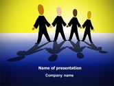 Business: Four Businessmen PowerPoint Template #07858
