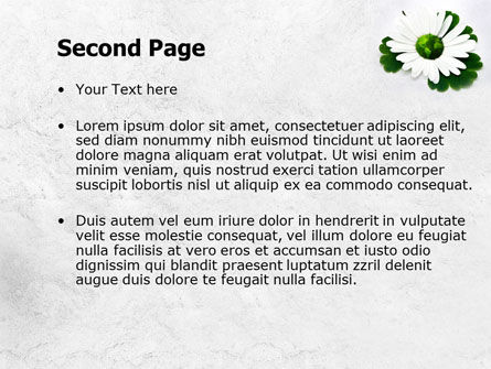 World Daisy PowerPoint Template, Slide 2, 07859, Nature & Environment — PoweredTemplate.com