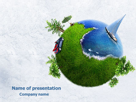 Land and Water Free PowerPoint Template, 07861, Careers/Industry — PoweredTemplate.com