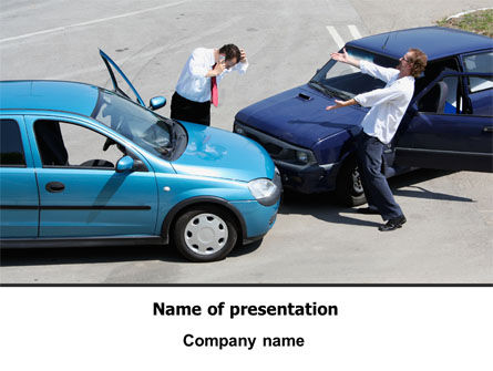 Financial/Accounting: Traffic Collision PowerPoint Template #07864
