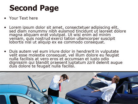 Traffic Collision PowerPoint Template, Slide 2, 07864, Financial/Accounting — PoweredTemplate.com
