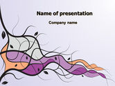 Abstract/Textures: Wavy Branches PowerPoint Template #07865