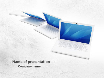 Computers: Laptops PowerPoint Template #07866
