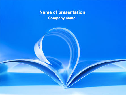 Blue Pages PowerPoint Template, 07868, Careers/Industry — PoweredTemplate.com