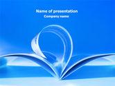 Careers/Industry: 青いページ - PowerPointテンプレート #07868