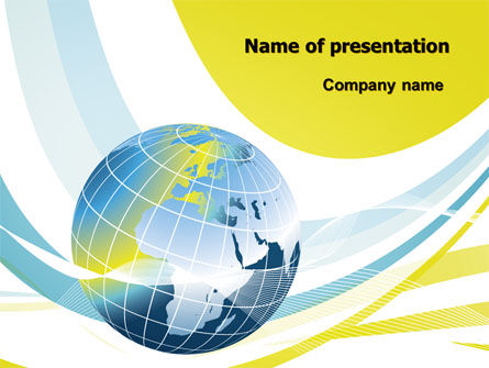 Global: Yellow Globe Theme PowerPoint Template #07870