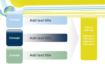 Yellow Globe Theme PowerPoint Template Slide 12