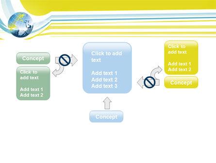 Yellow Globe Theme PowerPoint Template Slide 13