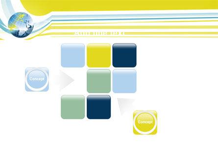Yellow Globe Theme PowerPoint Template Slide 16