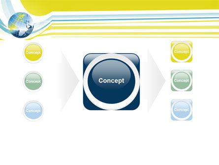Yellow Globe Theme PowerPoint Template Slide 17