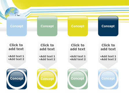 Yellow Globe Theme PowerPoint Template Slide 18