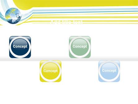 Yellow Globe Theme PowerPoint Template Slide 19