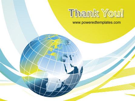 Yellow Globe Theme PowerPoint Template Slide 20