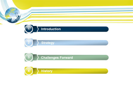 Yellow Globe Theme PowerPoint Template Slide 3