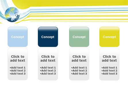 Yellow Globe Theme PowerPoint Template Slide 5