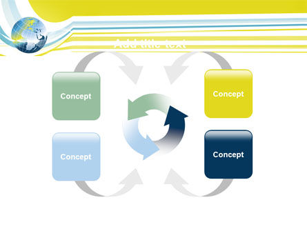 Yellow Globe Theme PowerPoint Template Slide 6