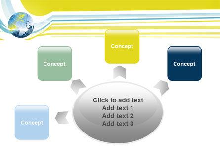 Yellow Globe Theme PowerPoint Template Slide 7