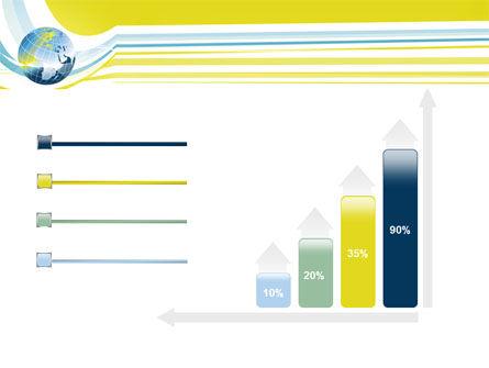 Yellow Globe Theme PowerPoint Template Slide 8