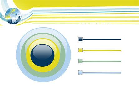 Yellow Globe Theme PowerPoint Template Slide 9