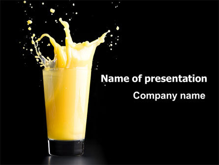 Glass Of Orange Juice PowerPoint Template, 07871, Food & Beverage — PoweredTemplate.com