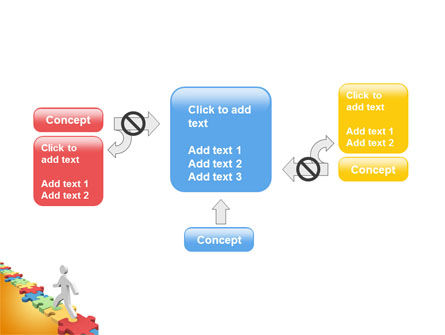 Jigsaw Path PowerPoint Template Slide 13