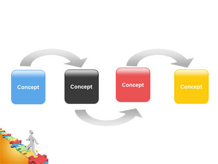 Jigsaw Path PowerPoint Template Slide 4