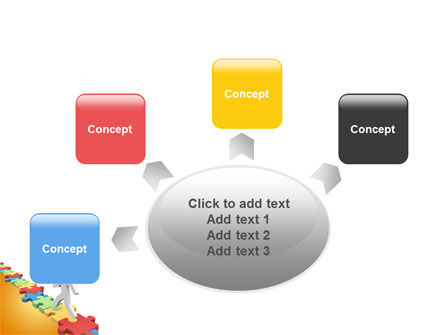 Jigsaw Path PowerPoint Template Slide 7