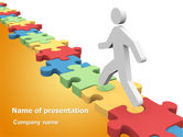 Careers/Industry: Jigsaw Path PowerPoint Template #07872