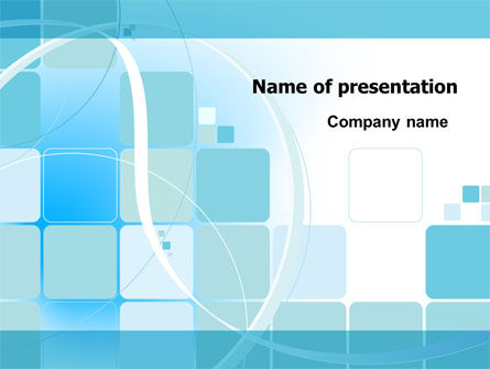 Aqua Cubic Theme PowerPoint Template