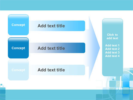 Aqua Cubic Theme PowerPoint Template Slide 12