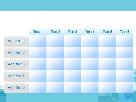 Aqua Cubic Theme PowerPoint Template Slide 15