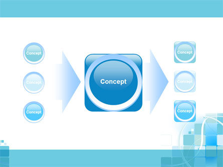 Aqua Cubic Theme PowerPoint Template Slide 17