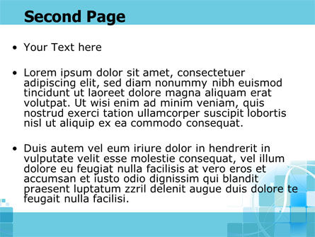 Aqua Cubic Theme PowerPoint Template Slide 2