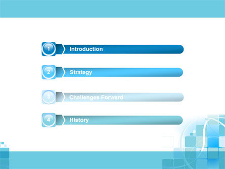 Aqua Cubic Theme PowerPoint Template Slide 3