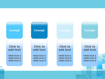 Aqua Cubic Theme PowerPoint Template Slide 5