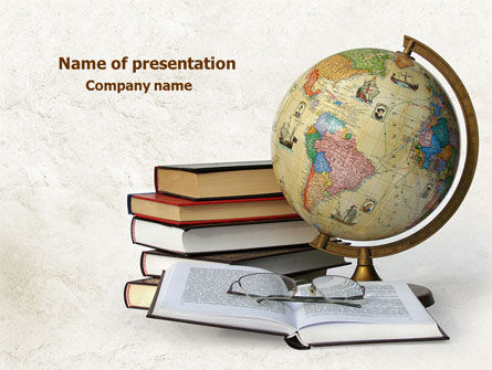 Study Geography PowerPoint Template, 07874, Education & Training — PoweredTemplate.com